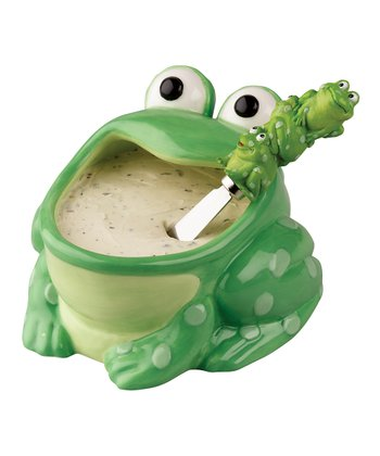 Frog Dip Bowl & Spreader