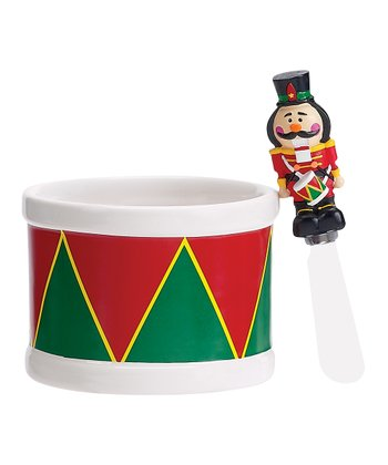 Nutcracker Dip Bowl & Spreader