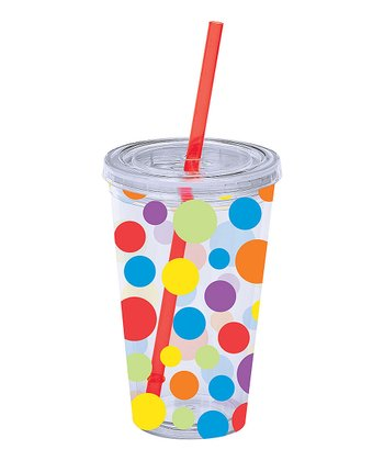 Primary Polka Dot 16-Oz. Insulated Tumbler