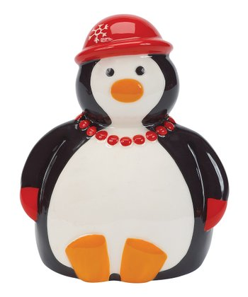 Boston Warehouse Penguin Party Scrubby Holder
