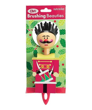 Boston Warehouse Red Nutcracker Brushing Beauty Scrub Brush