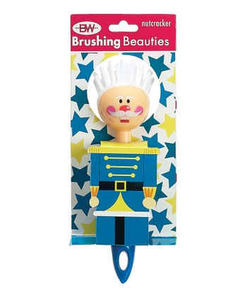 Boston Warehouse Blue Nutcracker Brushing Beauty Scrub Brush