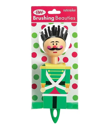 Boston Warehouse Green Nutcracker Brushing Beauty Scrub Brush