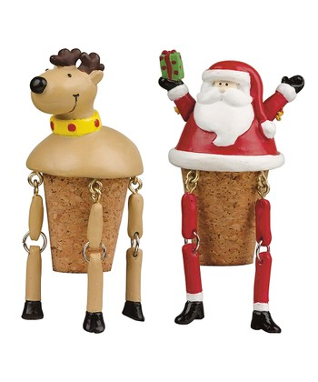 Boston Warehouse North Pole Pals Bottle Stopper Set