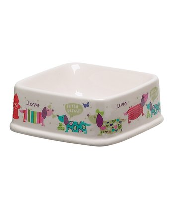 White Dog 12-Oz. Pet Bowl