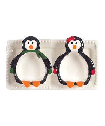 Boston Warehouse Penguin Party Serving Set