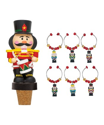 Nutcracker Wine Bottle Stopper Set