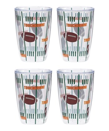Brown & White Touchdown Tumbler - Set of Four