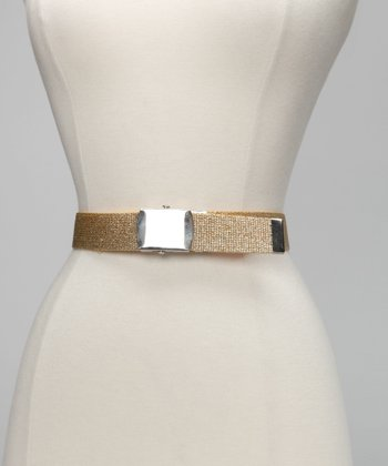 Bottoms Up 4 Kids Gold Sparkle Belt & Buckle