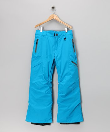 Blue Indigo Bolt Cargo Snow Pants - Boys