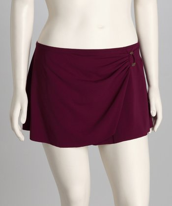 Plum Skirted Cover-Up