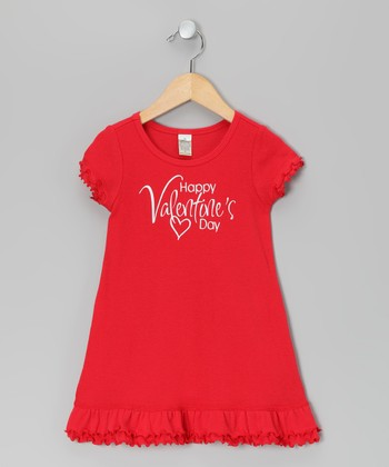 Red 'Valentine's Day' Dress - Toddler & Girls