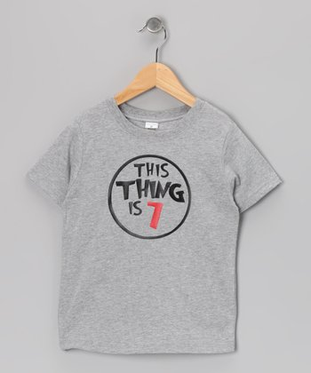 Gray 'This Thing Is 7' Tee - Boys