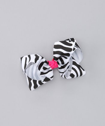 Hot Pink Zebra Bow