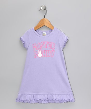 Lavender 'Easter Bunny' Dress - Infant, Toddler & Girls
