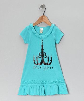 Blue Personalized A-Line Dress - Infant, Toddler & Girls