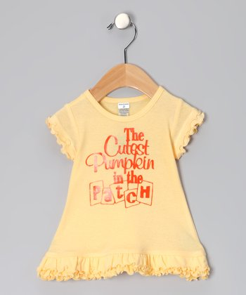Yellow 'Cutest Pumpkin' Dress - Infant, Toddler & Girls