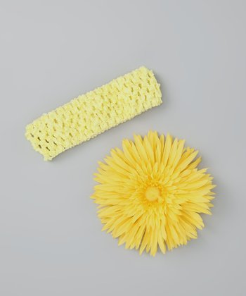 Yellow Flower Clip & Headband