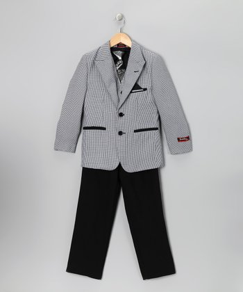 Boutattini Original Black & Gray Suit Set - Toddler & Boys