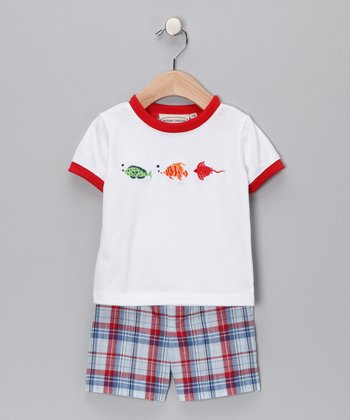 Red Fish Tee & Shorts - Infant