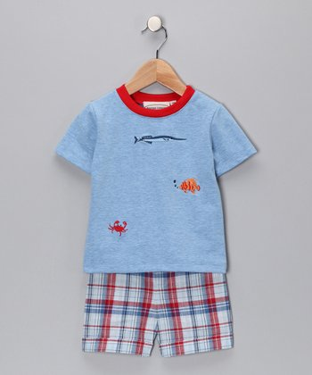 Blue Fish Tee & Shorts - Infant & Toddler