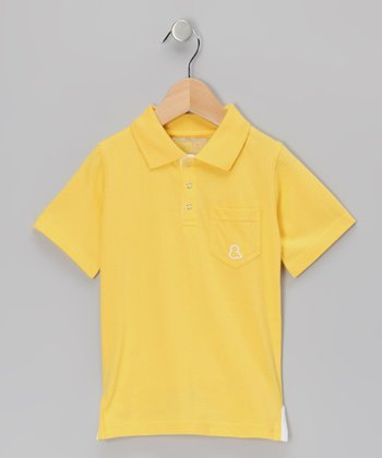 Yellow Organic Polo - Infant, Toddler & Kids