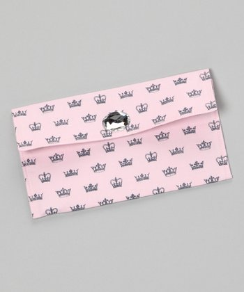Light Pink Crown Jewel Diaper Clutch