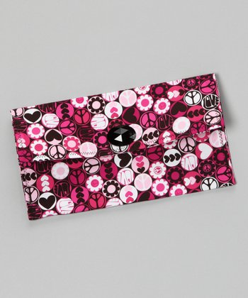 Black & Pink Love Shack Diaper Clutch