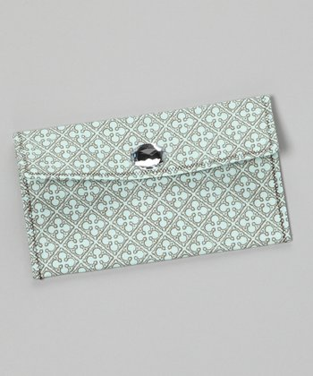 Light Aqua Romeo & Juliet Diaper Clutch