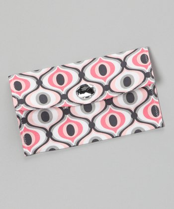 Pink & Gray Star Struck Diaper Clutch
