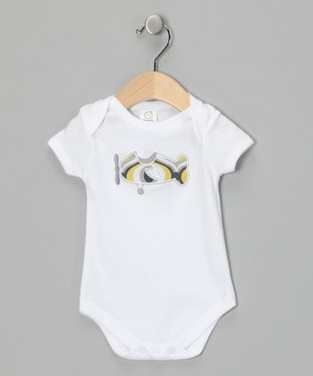White Paparazzi Bodysuit - Infant