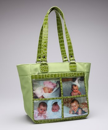 Kiwi Four-Window Tote