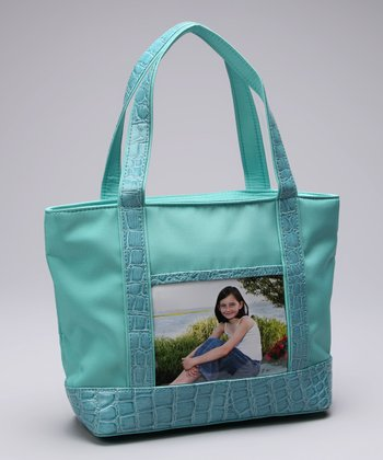Aqua One-Window Tote