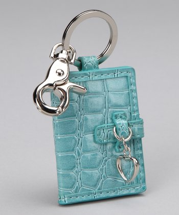 Aqua Mini Photo Book Keychain