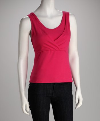 Fuschia Too Cool Nursing Tank