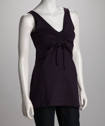 Breast is Best Eggplant Tie-Front Nursing Tank