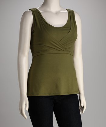 Breast is Best Olive Mama Chic Nursing Tank - Women