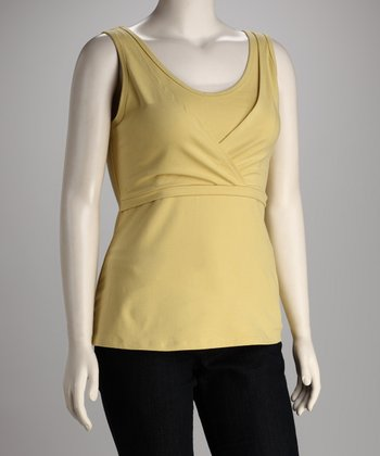 Lemongrass Mama Chic Nursing Tank - Plus