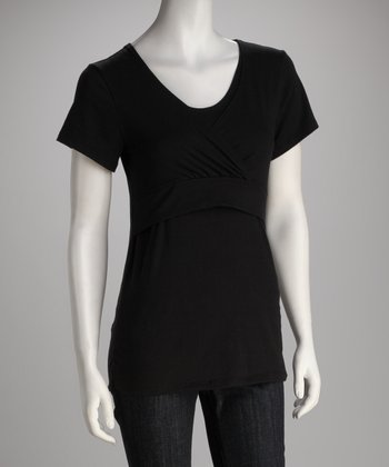 Black Soho Chic Nursing Top - Women