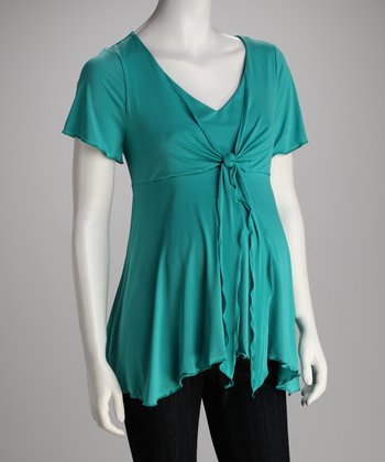 Breast is Best Capri Sea Mama's Night Out Maternity & Nursing Top