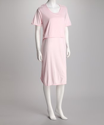 Pink Mama's Best Nursing Nightgown - Women