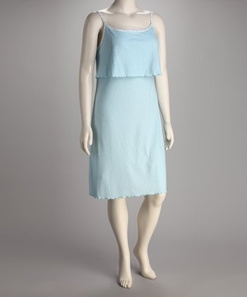 Breast is Best Aqua Sweet Dreams Nursing Nightgown