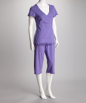 Wild Orchid Sleek & Styling Nursing Capri Pajamas