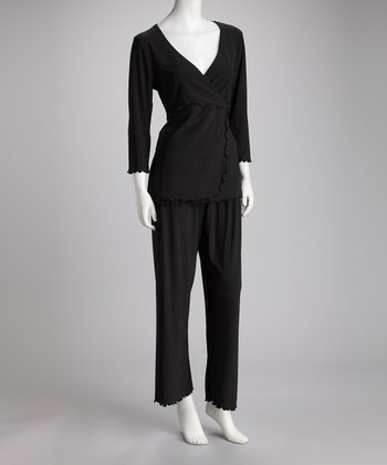 Breast is Best Black Sleek & Styling Nursing Pajamas - Women