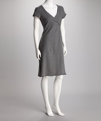 Charcoal Gray Sleek & Styling Nursing Nightgown