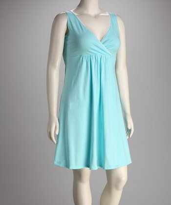 Breast is Best Aqua Goddess Nursing Nightgown