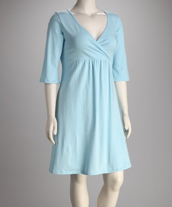 Breast is Best Light Blue Athena Nursing Nightgown