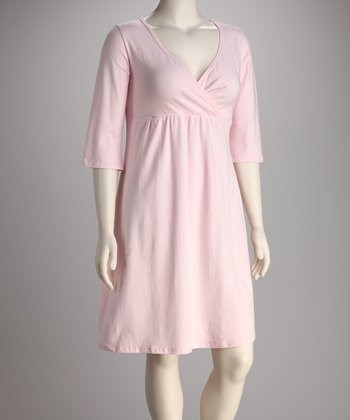 Breast is Best Pink Athena Nursing Nightgown