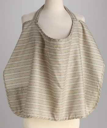 Tan Stripe Mama's Best Nursing Cover