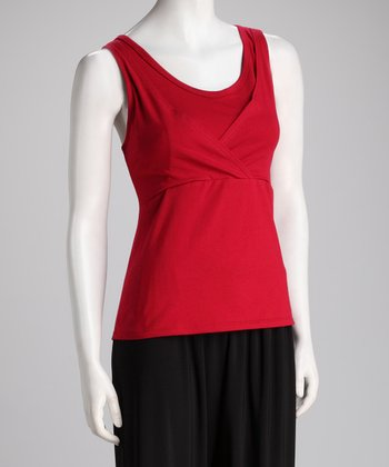 Red Too Cool Nursing Tank - Women
